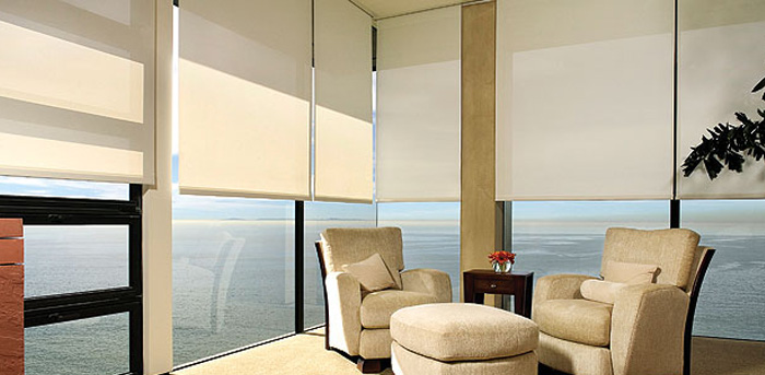 Tj window blinds roller shades and more for Motorized blinds shades
